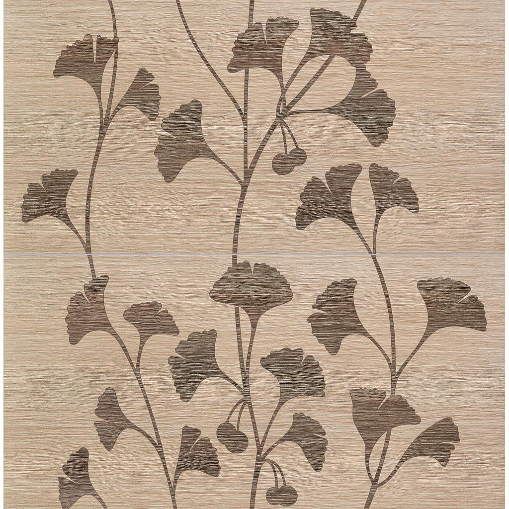 Wall Decor 2-elements Biloba beige 61,8x60,8x10mm (2'x2')