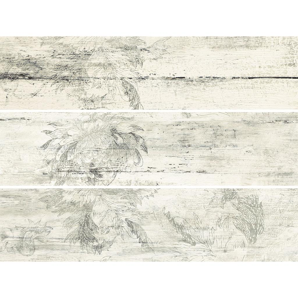 Set of 3 planks - Timbre flower 59,8x14,8x10mm (1.5'x 2')